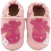Pantufa Catz Calçados Infantil Couro Nicky Girafa - Unissex-Rosa