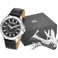 Relógio Masculino Mondaine Analógico 83404G0Mvnh2K1 Com Canivete - Masculino-Preto