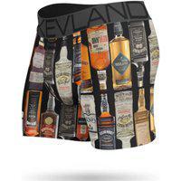 Cueca Boxer Kevland Whisky Preto