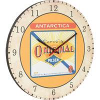 Relógio De Parede Original Bege