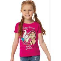 Blusa Rosa Escuro Barbie® Malha