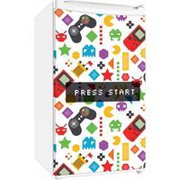 Adesivo Sunset Adesivos De Frigobar Envelopamento Porta Video Game Press Star