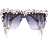 Givenchy Eyewear Óculos De Sol Com Aplicações - Preto