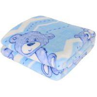 Cobertor Bebe Prime Flannel Hazime Azul Urso Bear