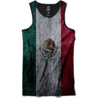 Regata Bsc Bandeira México Sublimada Masculina - Masculino-Vermelho+Branco