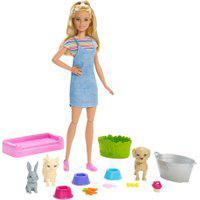 Boneca Barbie - Barbie Banho Dos Cachorrinhos - Mattel