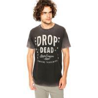 Camiseta Drop Dead Especial Blind Cinza