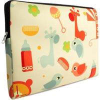 "Case Para Notebook Tritengo Em Neoprene Baby 15"" - Feminino-Amarelo+Azul"