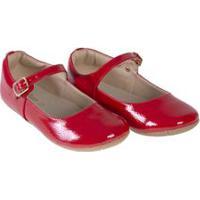 Sapato Infantil Verniz Show Vermelho - Baby Passo - 23
