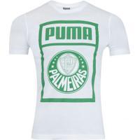 Camiseta Do Palmeiras Graphic 2019 Puma - Masculina - Branco/Verde
