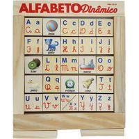 Alfabeto Dinâmico Jott Play Com 25 Peças Giratórias Madeira Natural