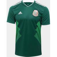 Camisa Seleção México Home 2018 S/N°Torcedor Adidas Masculina - Masculino
