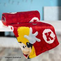 Manta Fleece Solteiro Mickey®- Vermelha & Preta- 125Lepper