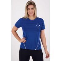 Camiseta Cruzeiro Dribble Feminina - Feminino-Azul