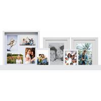 Kit Com 1 Painel De Fotos E 4 Quadros 69300-Kapos - Branco
