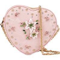 Dolce & Gabbana Kids Bolsa Tiracolo Em Forma De Coração - Rosa