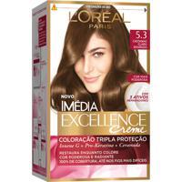 Tintura Creme Imédia Excellence L'Oréal Castanho Claro Dourado 5.3 Kit + Oferta