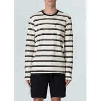T-Shirt Pocket Riva Stripes Ml-Cru/Preto