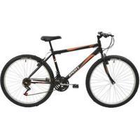 Bicicleta Mtb Aro 26 Masculina 18 Marchas V-Brake Rígida De Aço Polimet - Unissex