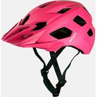 Capacete Enduro Feminino Bike Rosa Damatta In-Mold Com Regulagem Traseira