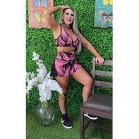 Shorts Donna Dyony Fitness Pink