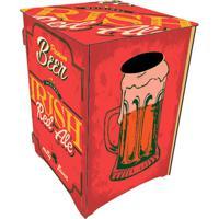 Banco Organizador Copo De Cerveja- Vermelho Escuro & Amacia Laser
