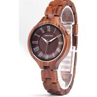 Relógio Design Madeira Dododeer-A09 - Vermelho