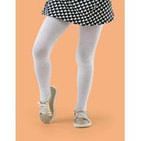 Meia Calça Infantil Lisa Colorida Branca