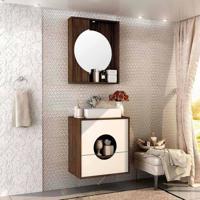 Conjunto Para Banheiro Florença I Ameixa Negra E Branco