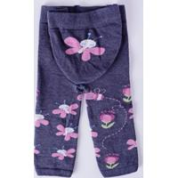Meia-Calça Legging Infantil Para Bebê Menina Lupo Mescla Jeans