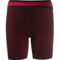 Gcds Bermuda Slim Com Logo - Vermelho