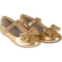 Sapato Infantil Dakar Ouro - Baby Passo - 25