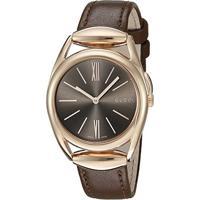 Relógio Gucci Feminino Couro Marrom - Ya140408