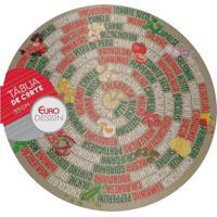 Tábua De Vidro Euro Home Para Pizza 13014 35Cm