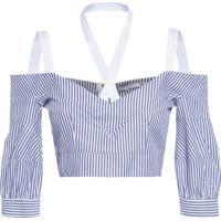 Blusa Feminina Decote Ombro - Azul