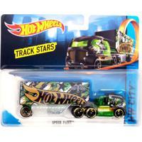 Carrinho Hot Wheels - Track Stars - Speed Fleet Green - Mattel