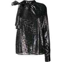Msgm Sequined One-Shoulder Dress - Preto