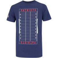 Camiseta New Era New England Patriots Versatile S - Masculina - Azul Escuro