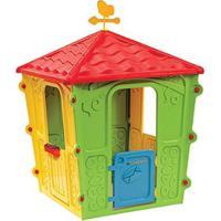 Casinha De Brinquedo Casa Infantil Catavento, Portátil Belfix Bel Brink - Unissex-Amarelo+Verde