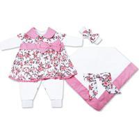 Saída Maternidade Padroeira Baby Encanto Rosa.