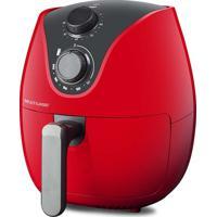 Fritadeira Elétrica Multilaser Air Fryer 4L 127V 1500W Com Grade Multilaser Vermelha Ce083