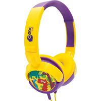 Headphone Dino- Amarelo & Roxo- 20X17X6Cm- Plugunewex