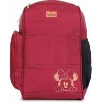 Mochila Maternidade Backpack Top Minnie Vinho