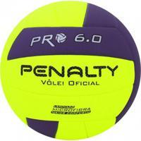 Bola Vólei Penalty Pro 6.0 X Amarelo/Roxo - U
