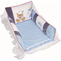 Berço Portátil Padroeira Baby Jangadinha - Azul Bebê