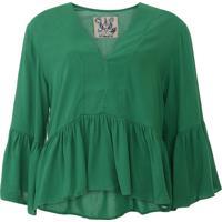 Blusa Colcci Babados Verde