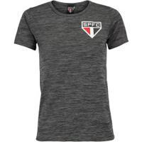 Camiseta Do São Paulo Fio Tinto 19 - Feminina - Cinza Esc Mescla