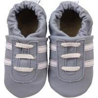 Pantufa Catz Calçados Infantil Couro Angel - Unissex-Azul