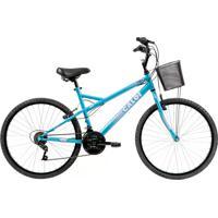 Bicicleta Ventura Aro 26 21 Marchas Freios V-Brake Quadro 18 Em Aço - Caloi