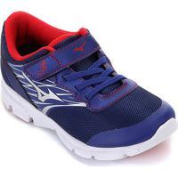 Tênis Infantil Mizuno Dynasty Velcro - Masculino-Azul+Vermelho